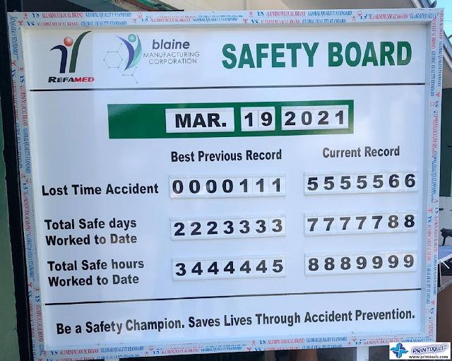 Customized Aluminum Safety Board - Blaine Manufacturing Corporation
