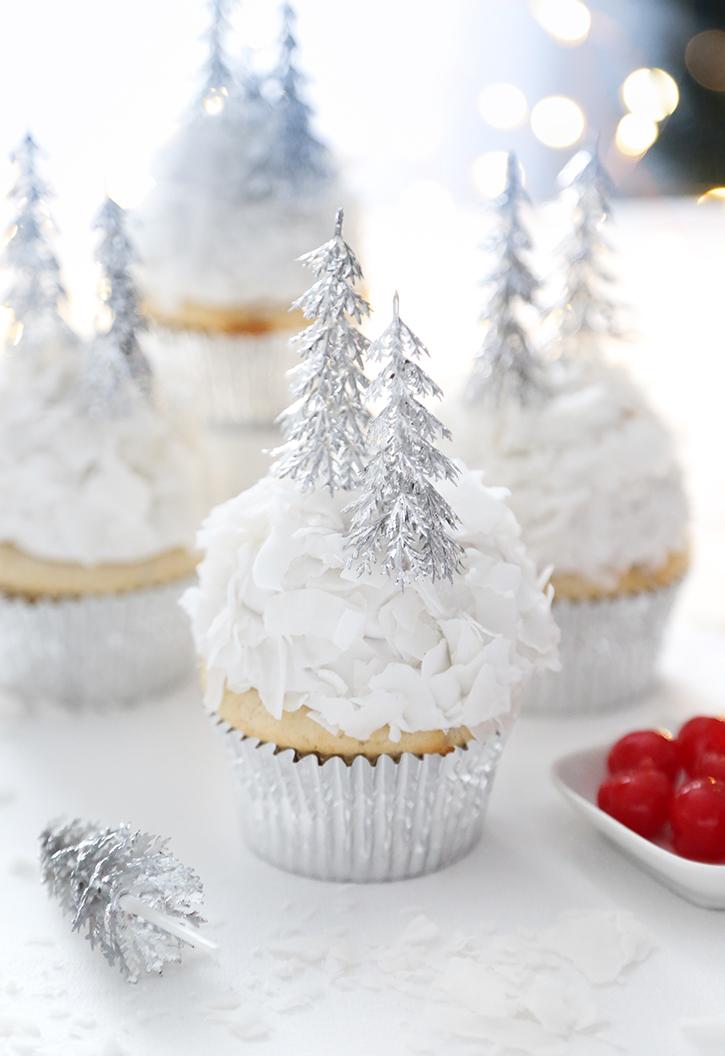 Coconut Cherry Amaretto Cupcakes