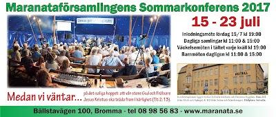 Sommarkonferens 15 - 23 juli