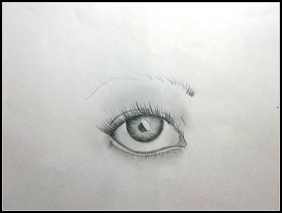 how to draw an eye step by ste