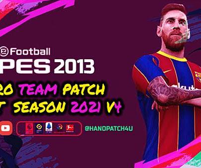 PES 2013 Pro Team Patch V4 AIO Season 2020/2021