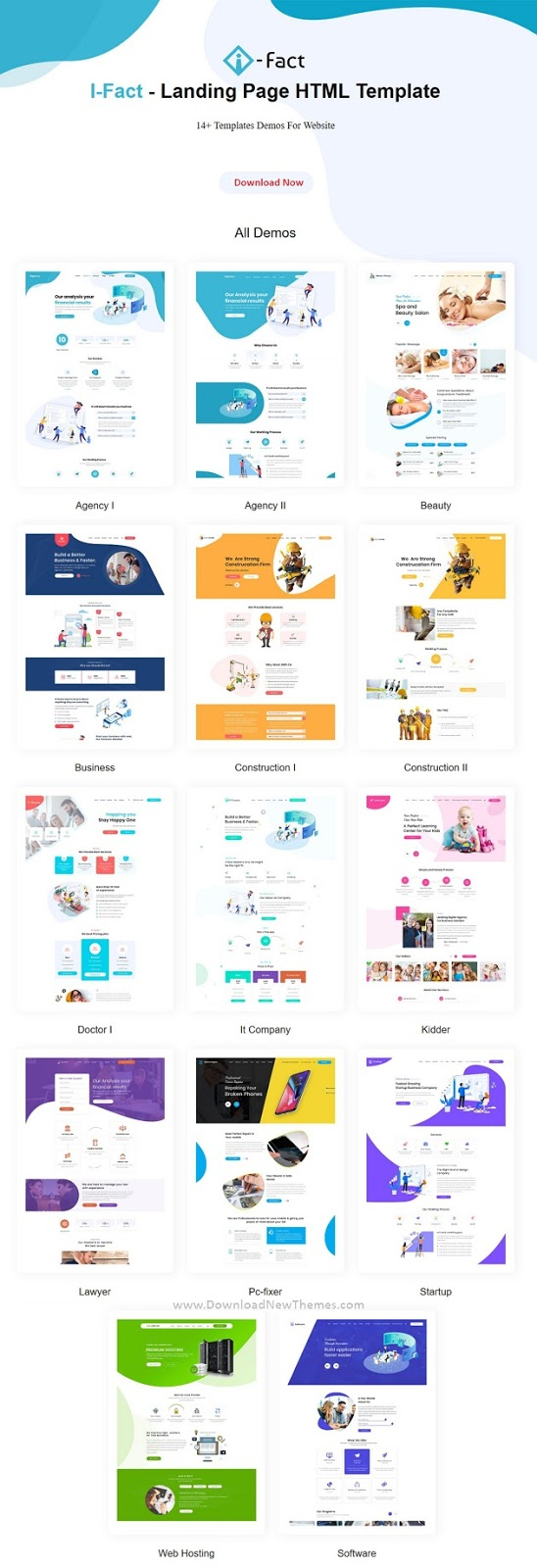 i-Fact Multipurpose Bootstrap Landing Page Templates