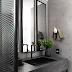 Lavabo preto e cinza com metalon e detalhes industriais e lúdicos!