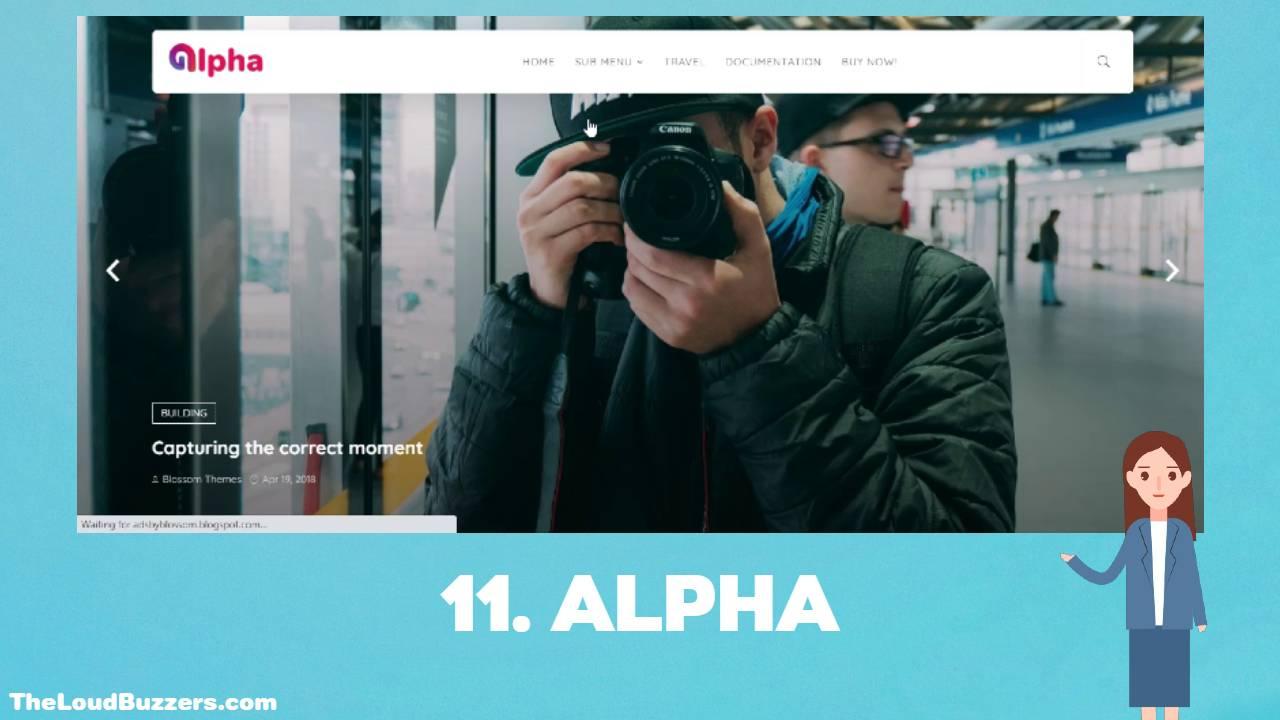 Alpha Blogger Template