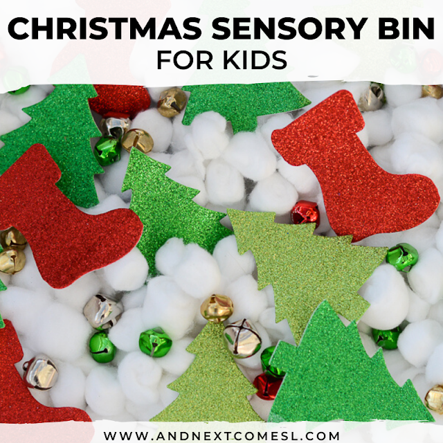 Sensory bin ideas for Christmas