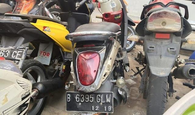Motor yang Dipreteli Adi Saputra Belum Diambil di Polres