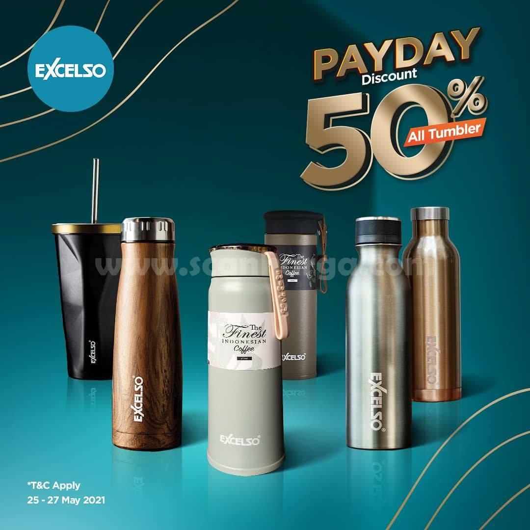 Promo Excelso Payday Diskon 50% untuk Semua Tumbler