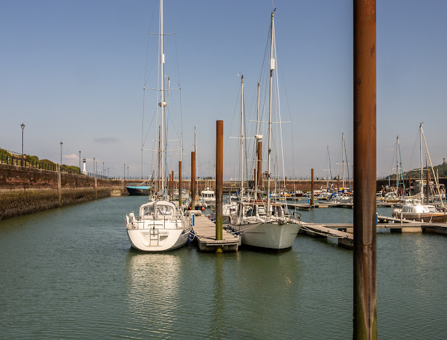 Photo of blue skies at Maryport Marina on Thursday afternoon