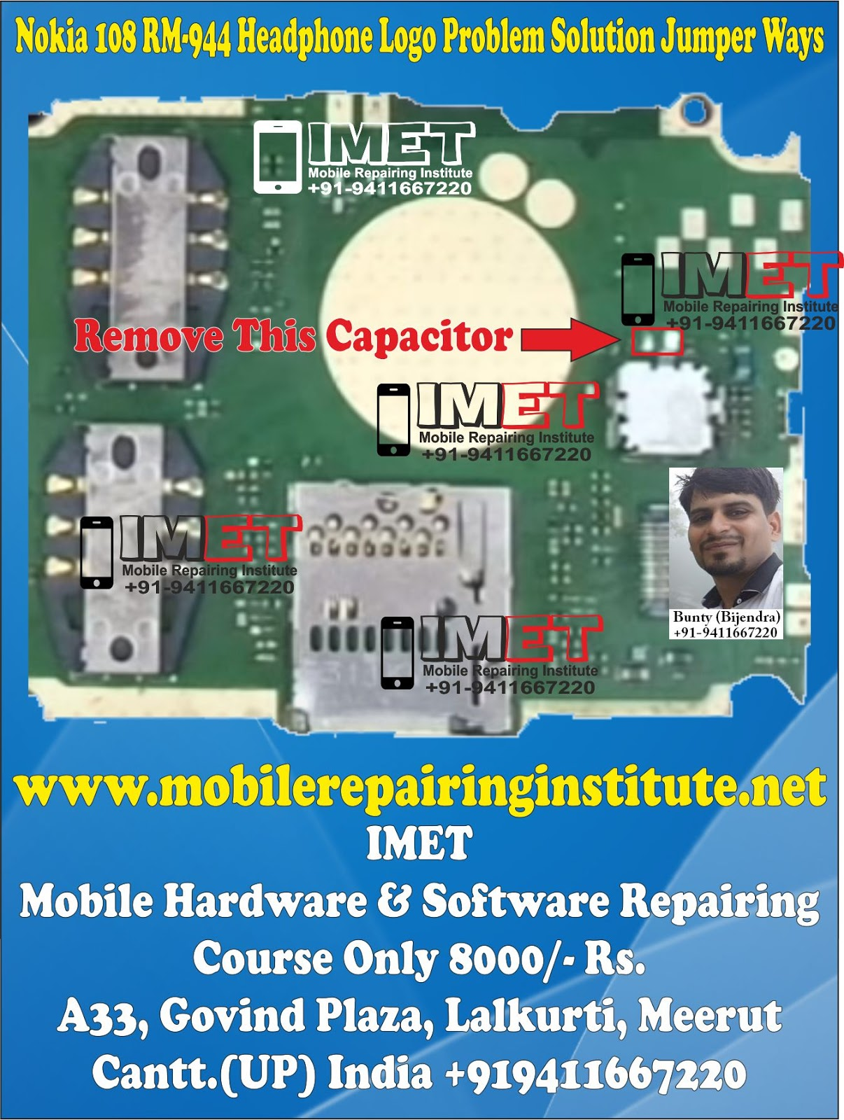 Nokia 108 RM-944 Headphone Logo Problem Solution Jumper Ways