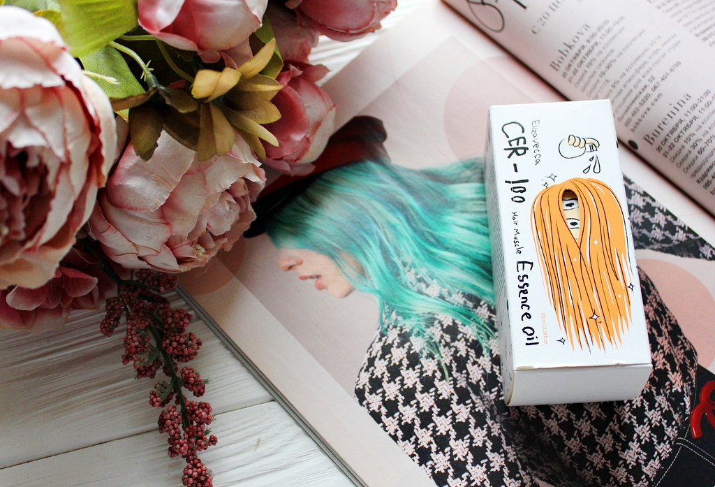 Elizavecca CER-100 Hair Muscle Essence Oil - Эссенция на основе масел для укрепления волос / обзор, отзывы