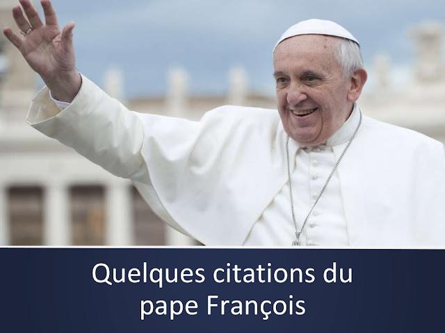 Diaporama : citations du pape François