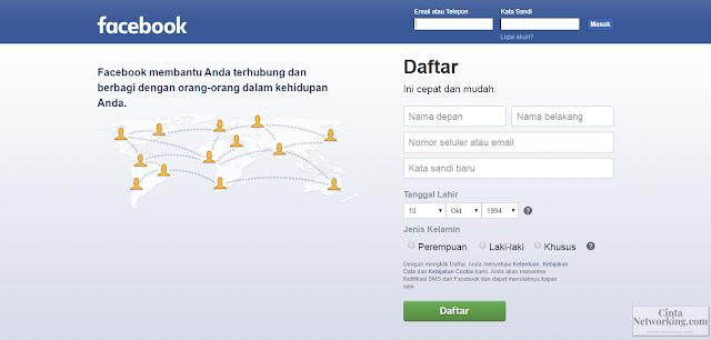 Cara Membuat Akun Facebook / FB baru Mudah Dan Cepat Terbaru - Cintanetworking.com