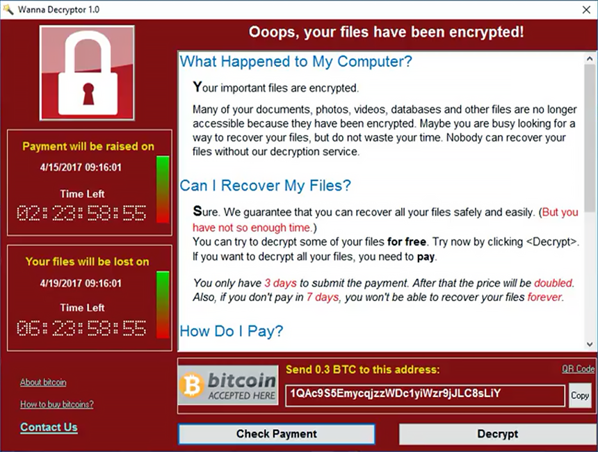 Il Ransomware Wannacry getta il mondo nel caos!