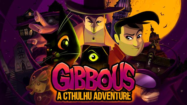 Los protagonistas de Gibbous en primer plano y casas al fondo.