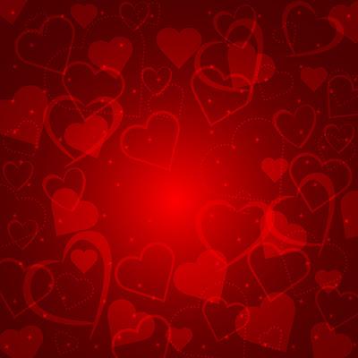 Fondo de corazones romántico en vector