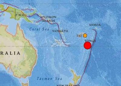 Sismo 6,4 grados sacude Tonga
