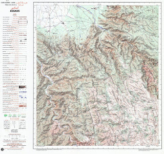 ASSADAS Morocco 50000 (50k) Topographic map free download