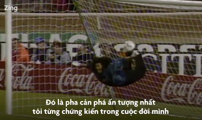 Bạn sẽ há mồm khi được xem thủ môn làm điều này