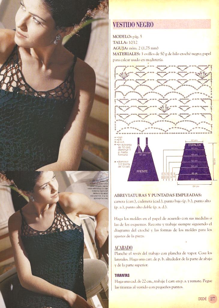 vestido, cadenetas, croché, ganchillo, patrón, instrucciones, patrones