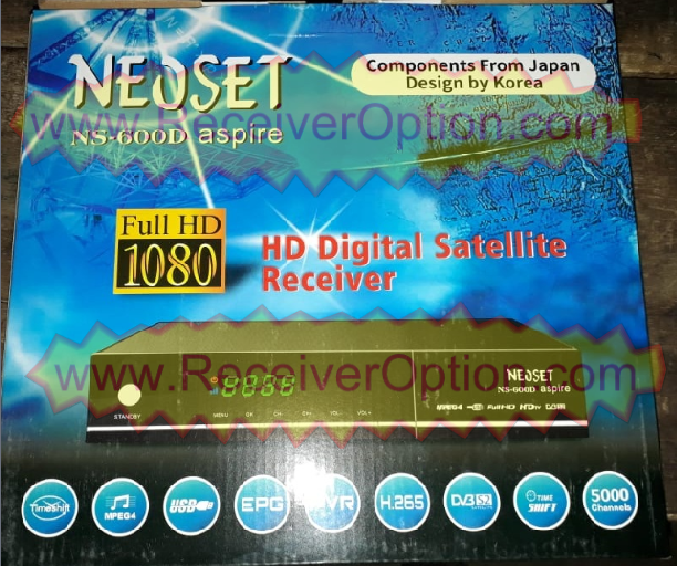NEOSET NS-600D ASPIRA HD RECEIVER TEN SPORTS OK NEW SOFTWARE