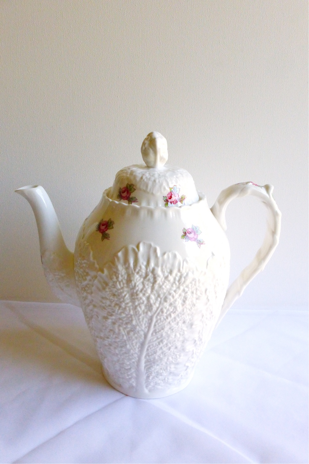 Spode Bridal Rose coffeepot, Spode bone china coffeepot, Spode coffeepot, vintage bridal gift, gift for bride, Vintage Tea Treasures on Etsy, Etsy shop Vintage Tea Treasures, vintage tea ware, vintage gifts, English bone china, vintage English tea ware, Etsy shop update