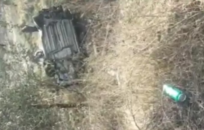 मंदसौर बायपास हाईवे पर तेज रफ्तार में आ रही  i20 कार खाई में गिरी 1 की मौके पर मौत , एक गंभीर रूप से घायल