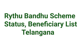 Rythu Bandhu Scheme Status