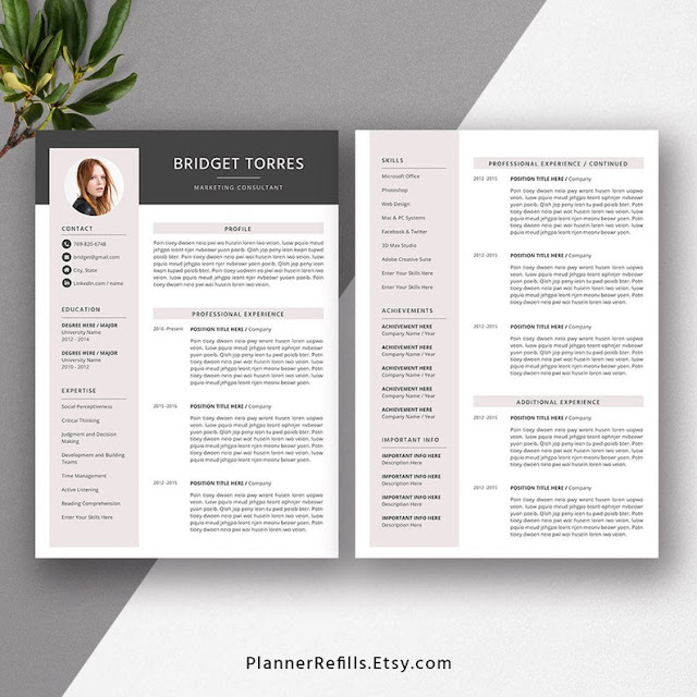 modern resume template with cover letter  resume template