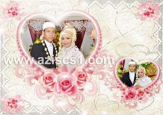 Frame Amor cantik untuk foto wedding