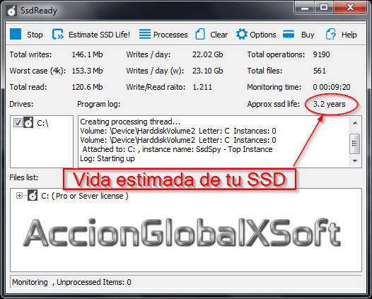 SsdReady [Averiguar el tiempo de vida del disco duro SSD en tu ordenador]