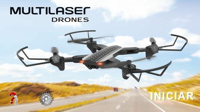 Tela inicial do aplicativo Multilaser Drones