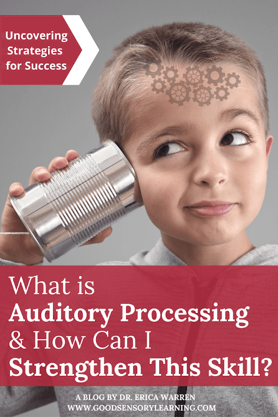 Child trying to listen with auditory processing disorder
