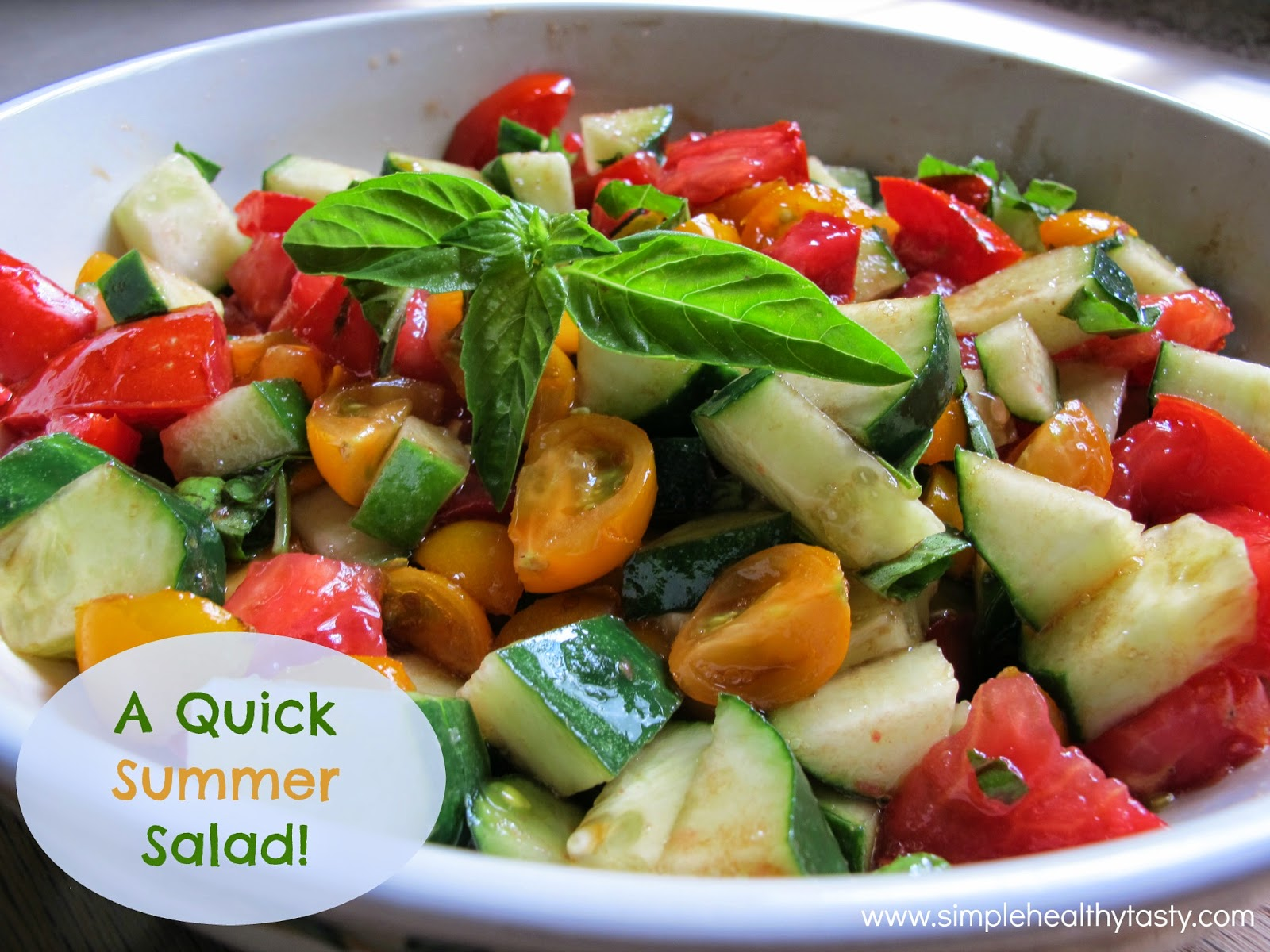 Sweet Basil, Tomato and Cucmber Salad