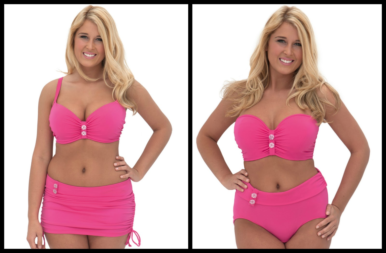 c72687b5c7090 Curvy Kate Luau Love Flamingo Pink Padded Bikini Top 34K and High ...