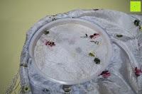 Stoff unten: 5 Teiliges Handi-Stitch Stickrahmen und Kreuzstich Set– 12,7 bis 28 cm ( Größen (28cm, 24cm, 20,5cm, 16,5cm & 12,7cm) – Verschiedene Farben