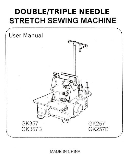 GK257/257B GK357/357B Stretch Sewing Machine Operating