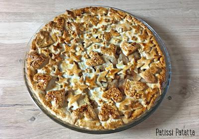 recette d'apple pie, apple pie, tourte aux pommes, tarte aux pommes, dessert aux pommes, décoration de tourte, décoration de pie, golden syrup, dessert classique, pâtisserie, patissi-patatta
