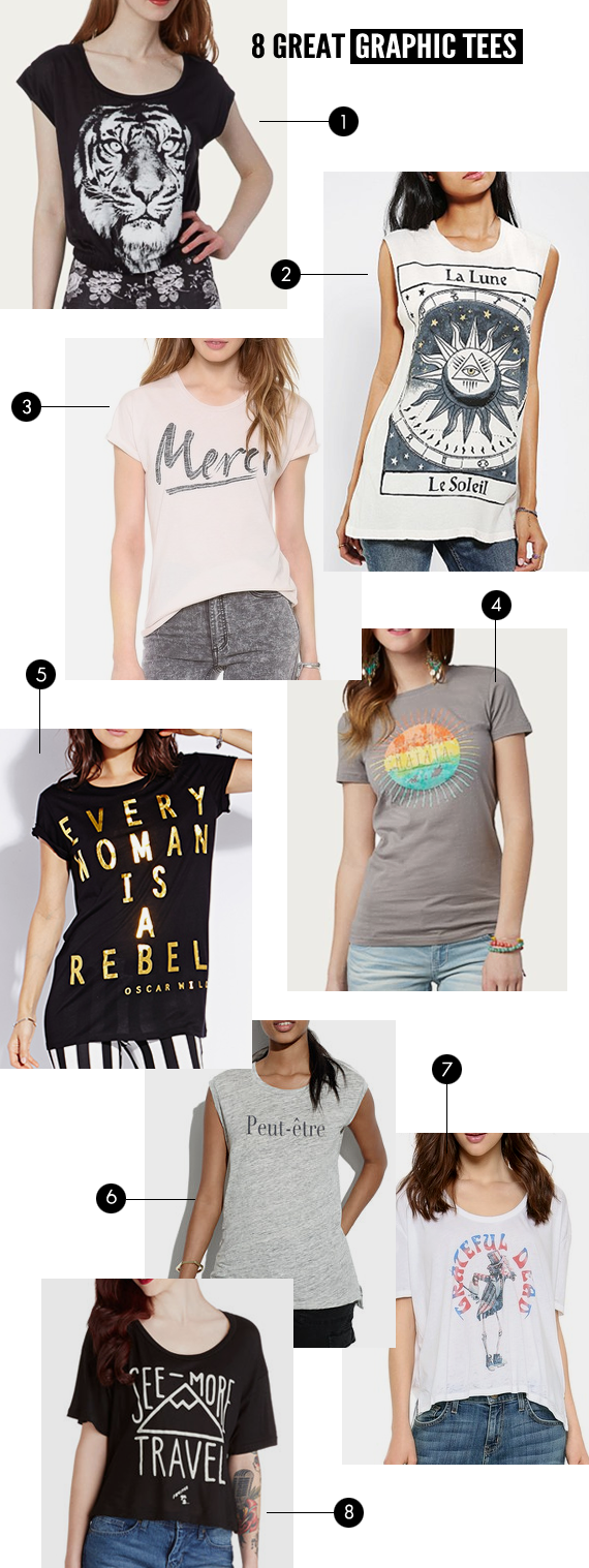 8 Great Graphic Tees // Bubby and Bean