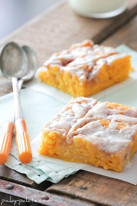 Cinnamon Roll Pumpkin Vanilla Sheet Cake Cook N Is Fun