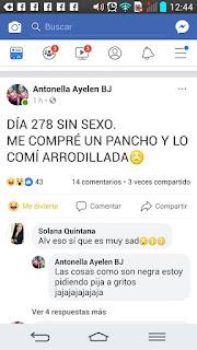 Humor de Facebook : Falta de sexo