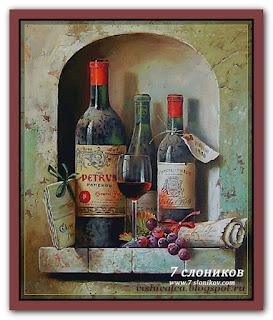 """7 слоников 001 """"Натюрморт с вином"""""""