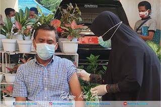 Wakil Walikota Bima Terima Suntik Vaksin Tahap Kedua