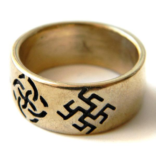 заказаить свадебные кольца обручальные языческие свастичные славянские