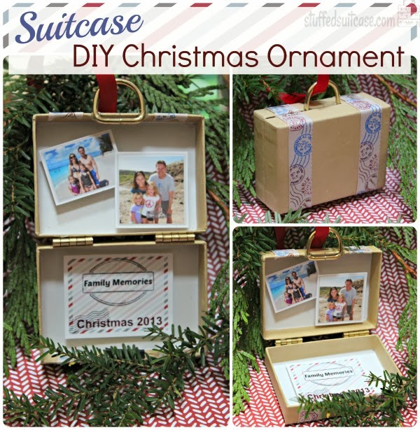 diy christmas ornament suitcase travel memories