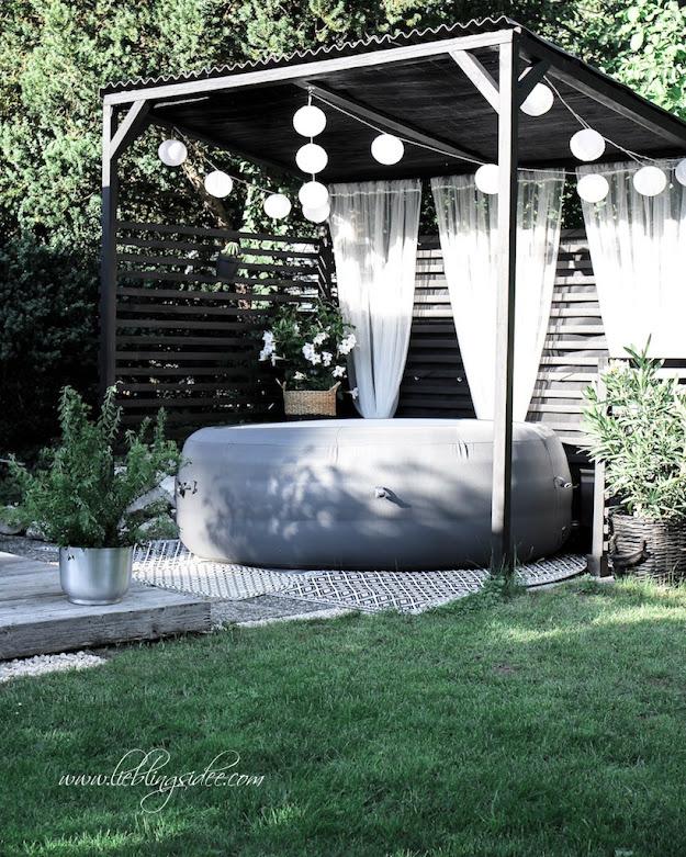 DIY Garten Poolhaus Whirlpool Überdachung selbst gebaut Lieblingsidee