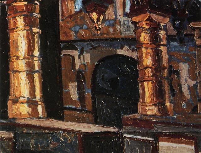 Николай Рерих - Ростов Великий. Церковь Спаса на Сенях. 1903