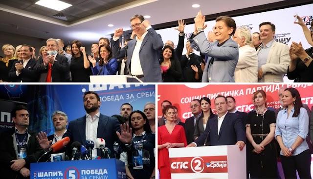 SNS pobjednik izbora u Srbiji, u parlament ušli Zukorlić i Ugljanin