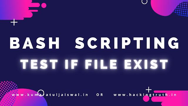 Bash Scripting Test if File Exist or not