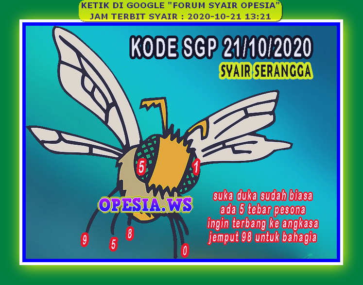 Kode syair Singapore Rabu 21 Oktober 2020 28
