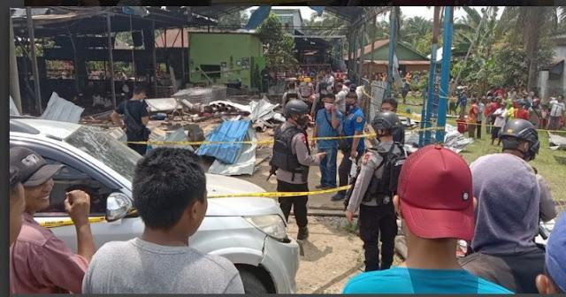 Ledakan Bengkel Las di Binjai,Sumut Tewaskan 4 Orang, 9 Luka